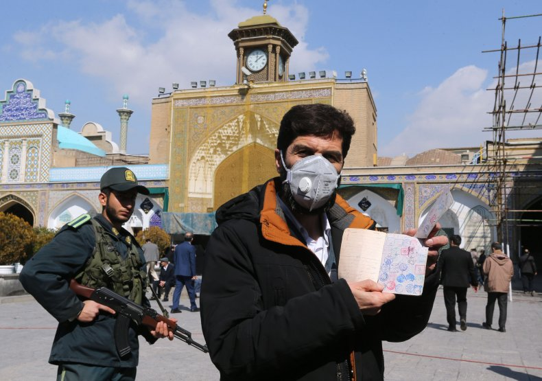 Iranian Voter Shows ID