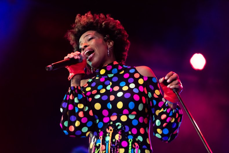Singer Macy Gray performs in Rotterdam