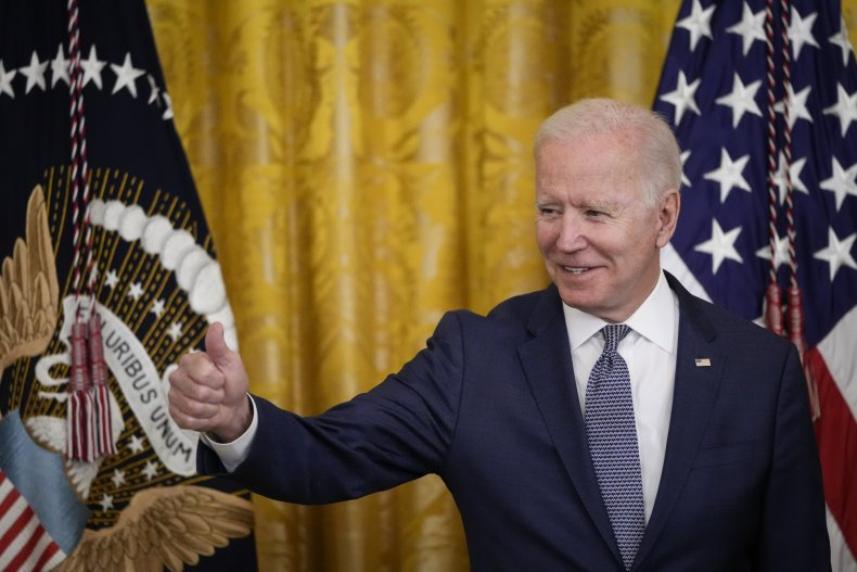 President Joe Biden Gives a Thumbs Up
