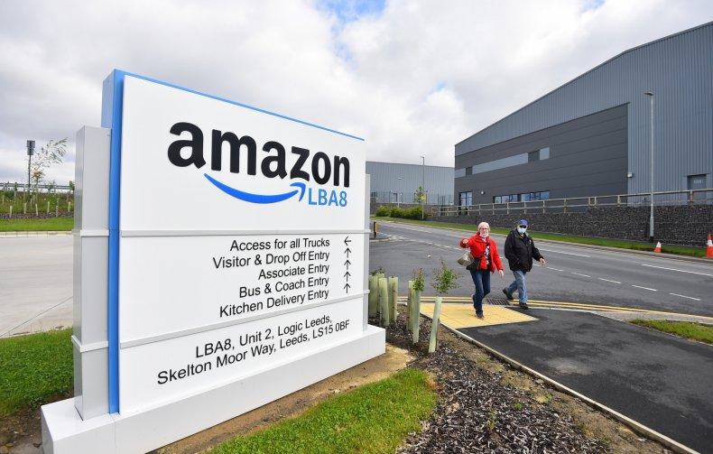Amazon warehouse in Leeds
