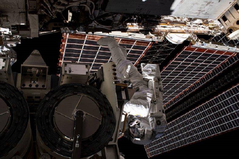 NASA's Shane Kimbrough during an ISS spacewalk