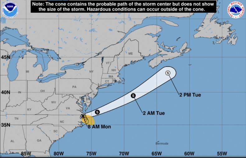 Tropical Storm Claudette Path Carolinas Atlantic