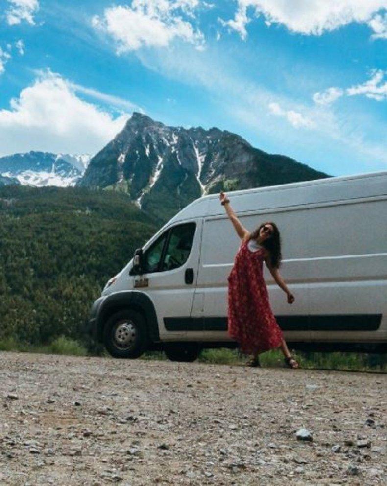 Georgia Broderick and her van.