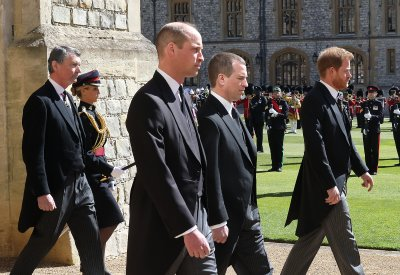 Prince William, Prince Harry at Philips Funeral