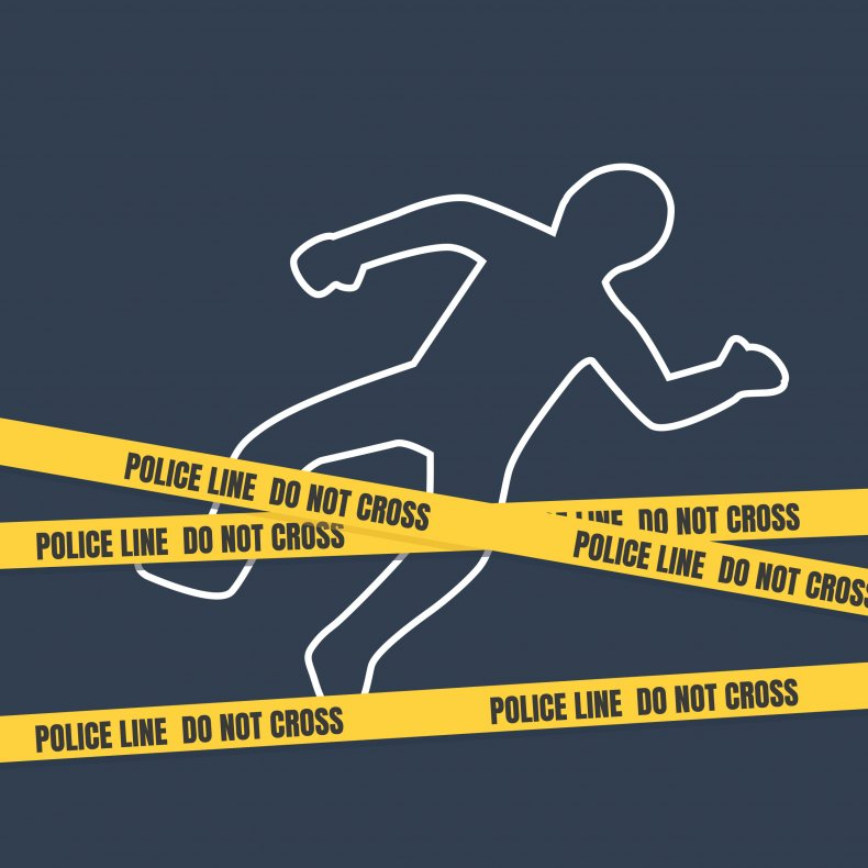 Crime scene body outline