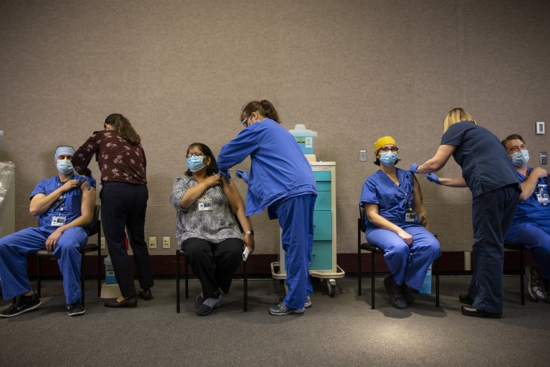 Healthcare Workers Get Vaccinated