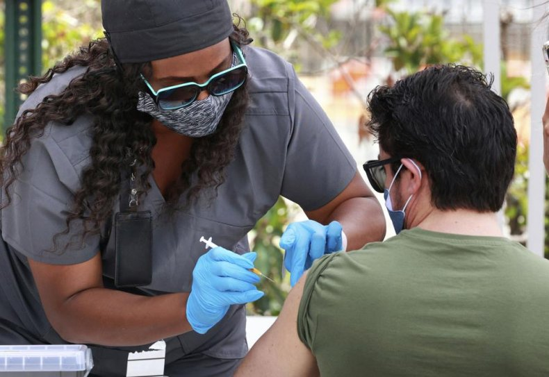 Orange County Resident Gets Vaccinated