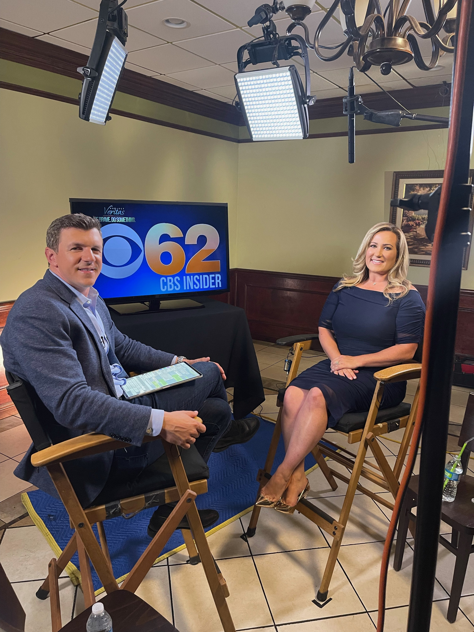 April Moss interrupted her weather report at CBS 62 in Detroit to announce she has teamed up with James O'Keefe and Project Veritas to blow the whistle on what she alleges is discrimination at CBS News.