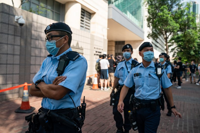 Hong Kong police arrest man with pro-Democracy