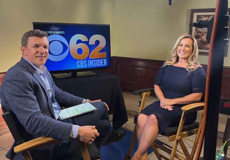April Moss with James O'Keefe