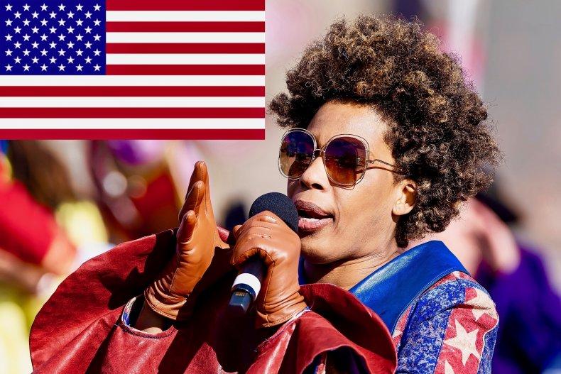 Macy Gray criticizes the U.S. flag