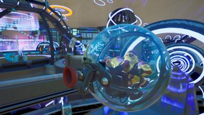 A Hamster Ball Ride in Fortnite