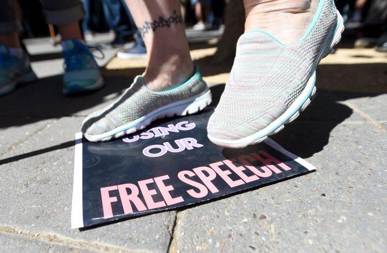 Free speech campus protest