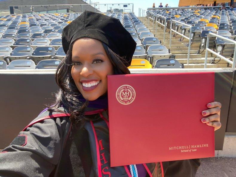 Amber Goodwin graduated law school at 41