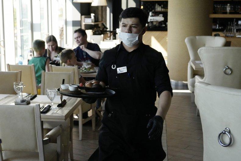 Russia waiter
