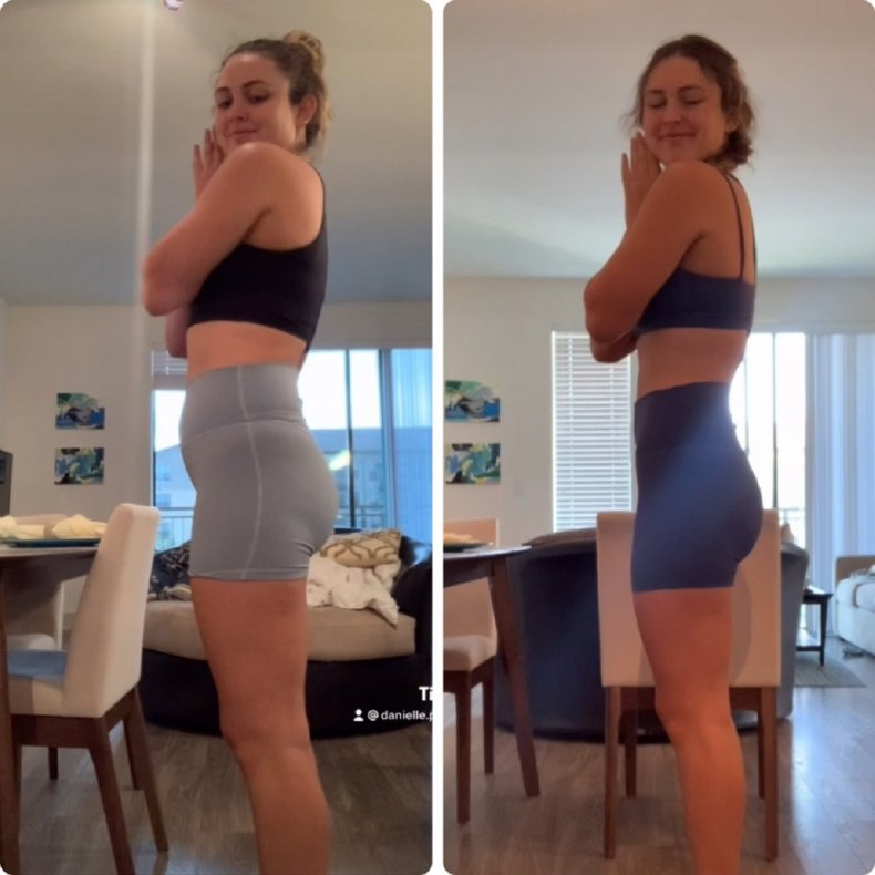 Danielle Pierce shares before-and-after photos