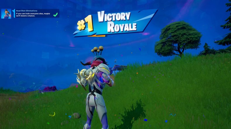 A Fortnite Player With an Alien Parasite