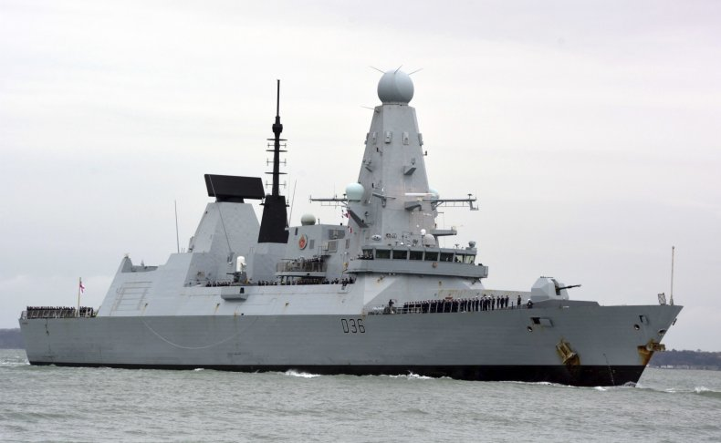 Russia Drop Bomb on UK Ships