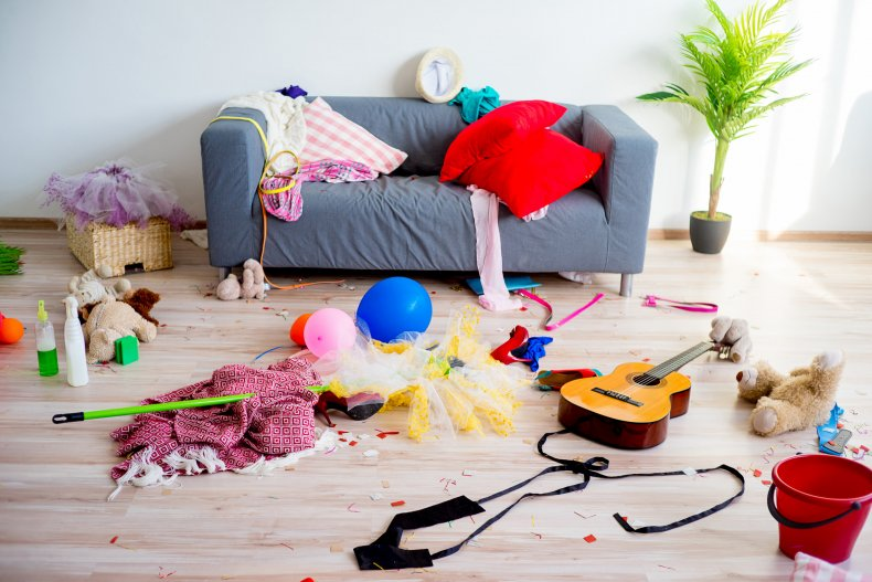 Messy room with toys on floor