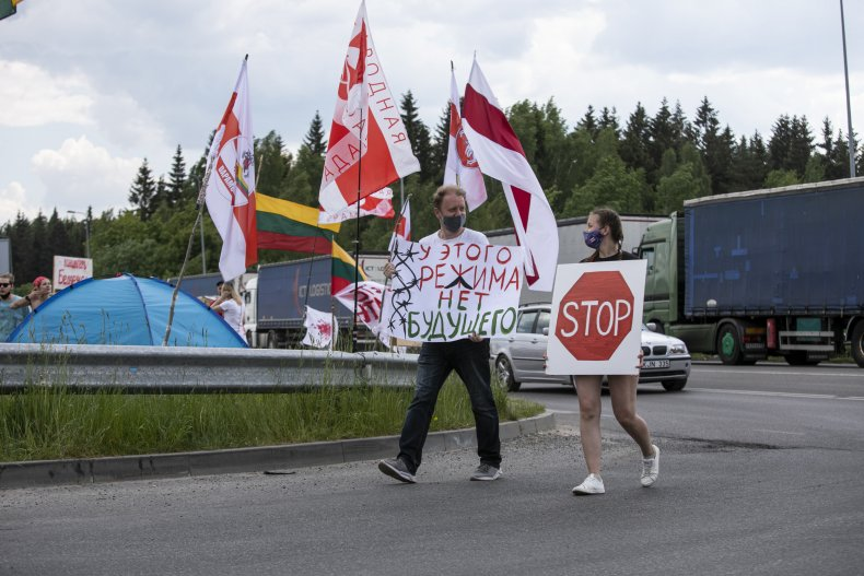 Lithuania Protestors
