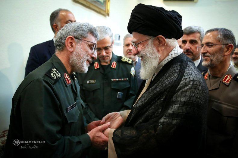 Quds, Force, commander, Qaani, and, Supreme, Leader