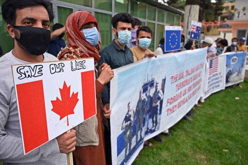 Afghan, interpreters, protest, US, withdrawal