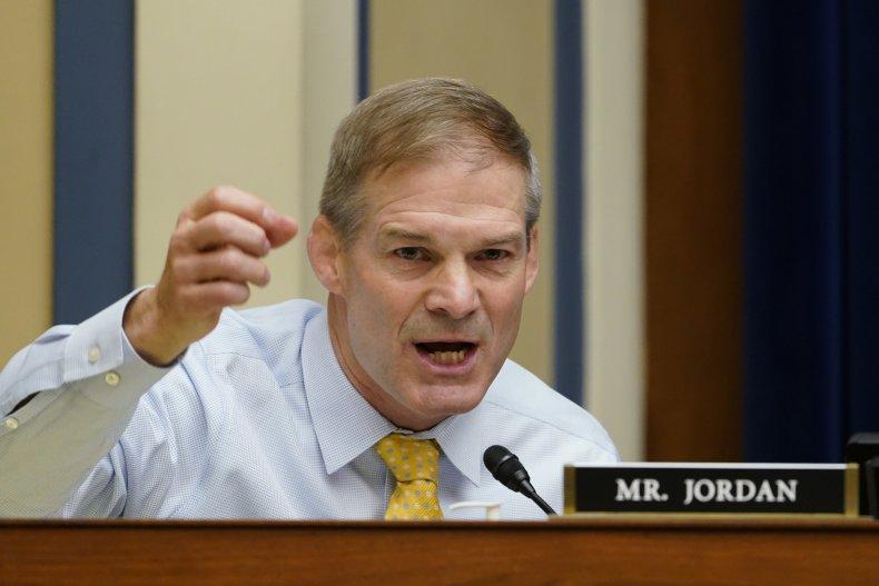 Rep. Jim Jordan, (R-OH) speaks during a