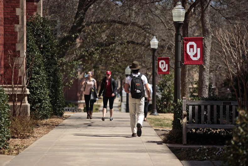 University of Oklahoma campus.