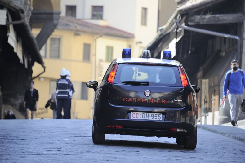 Police car in Florence, Italy