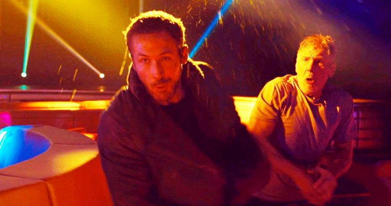 Ryan Gosling and Harrison Ford punch