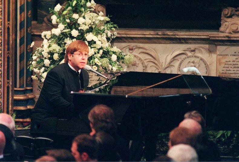 Elton John Plays at Princess Diana's Funeral