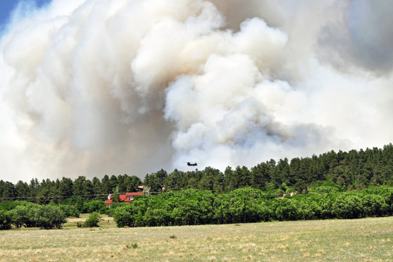 A fire in Colorado's Black Forest area.