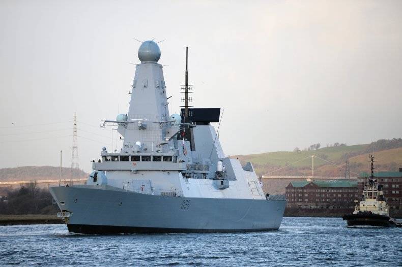 HMS Defender in Glasgow