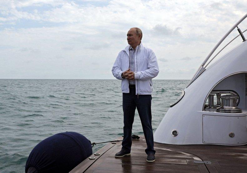 Russian President Vladimir Putin in the BlackSea