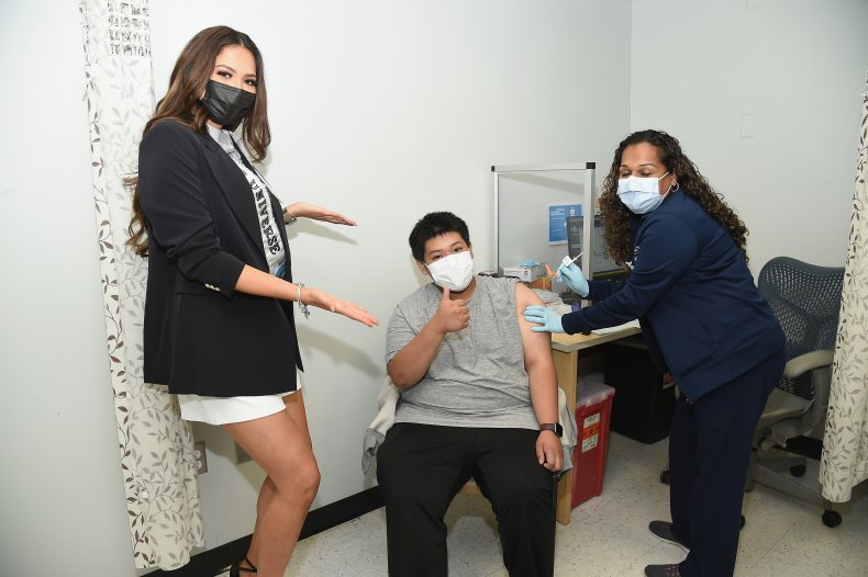 Miss Universe Encourages Teens to Get Vaccinated