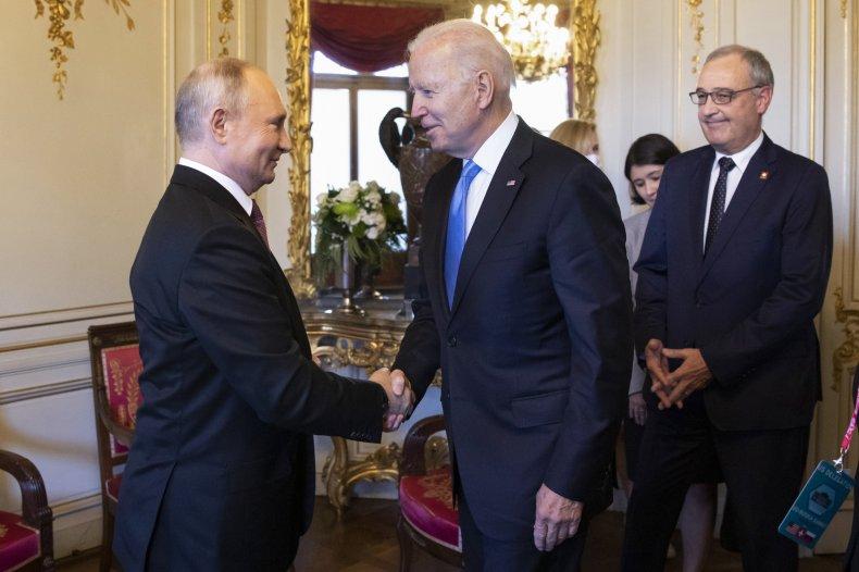 President Joe Biden and Russian President Putin