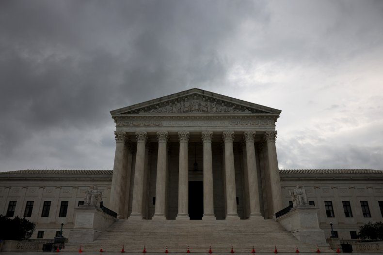 The U.S. Supreme Court is shown on