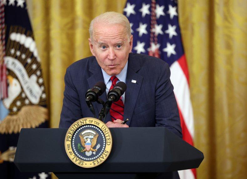 Joe Biden whispering in White House