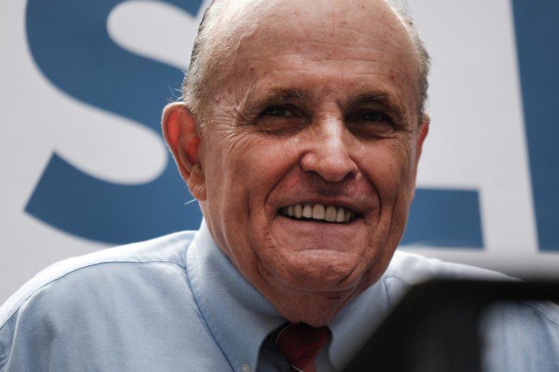 Giuliani Campaigns for Mayoral Candidate Curtis Sliwa