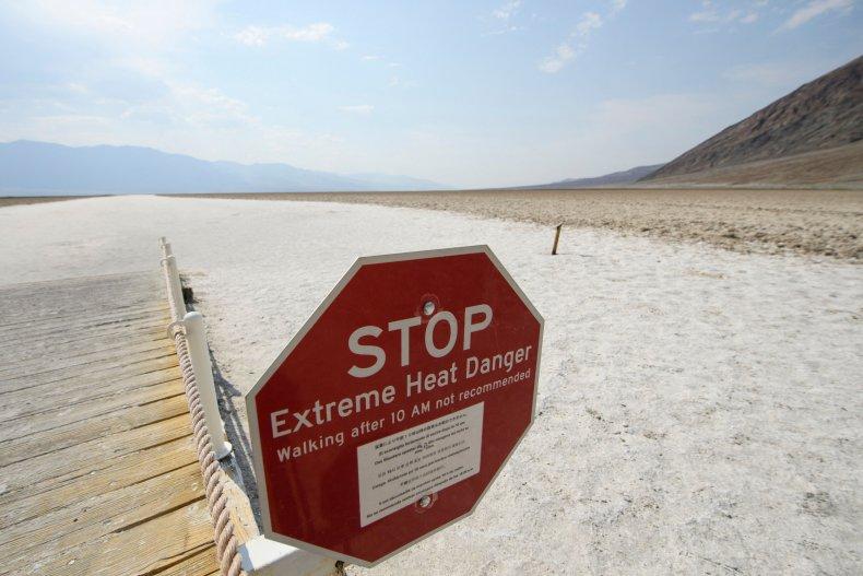 A warning sign at Death Valley, California.