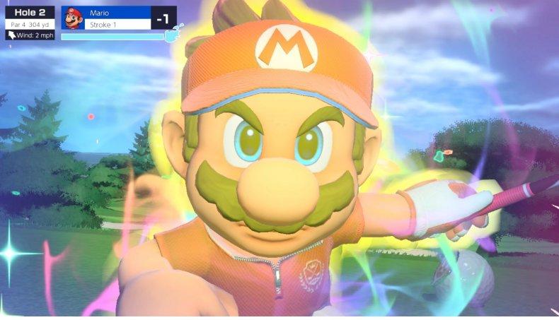 Mario Performs His Special Shot