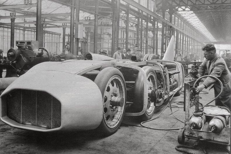 George Eyston Thunderbolt factory