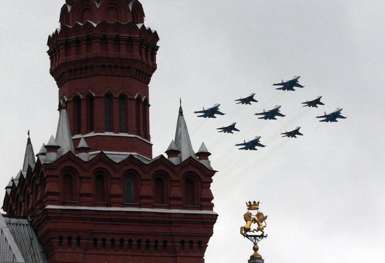 Russian Fighter Jets Over Kremlin