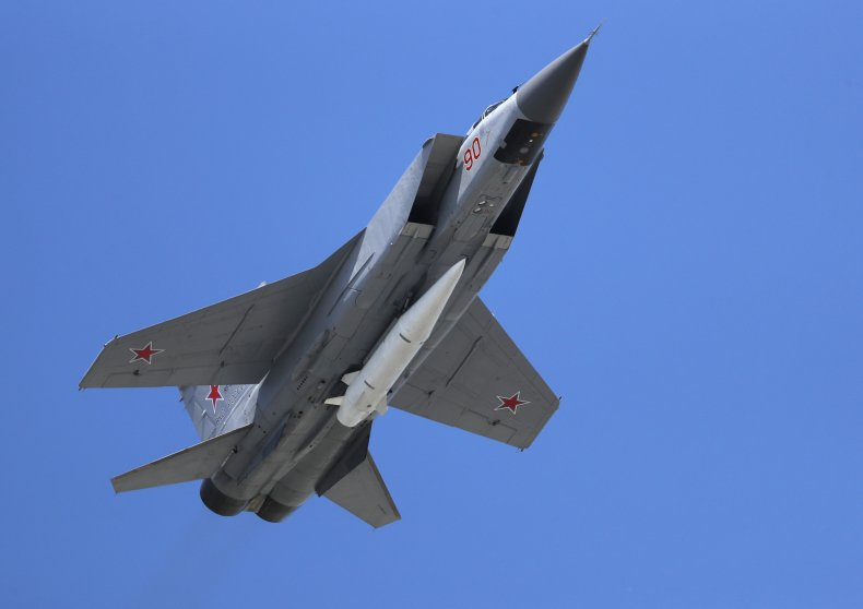 Russian Air Force MiG-31K jet
