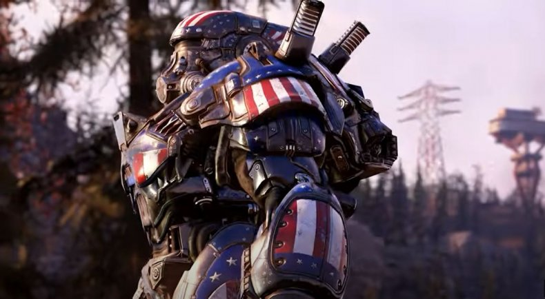 The Patriot Power Armour in Fallout 76