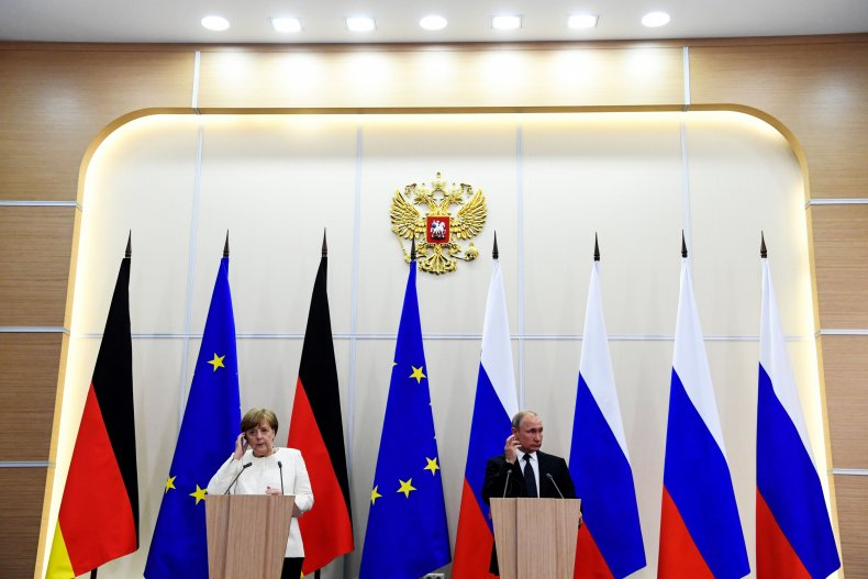 President Vladimir Putin and Chancellor Angela Merkel