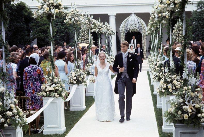 Tricia Nixon's wedding at the White House.