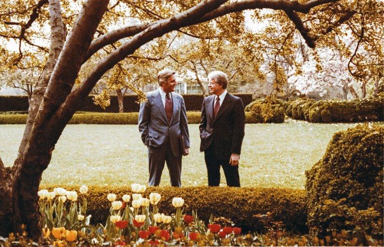 The White House Rose Garden in 1978.