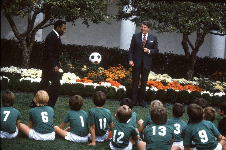 The White House Rose Garden in 1982.