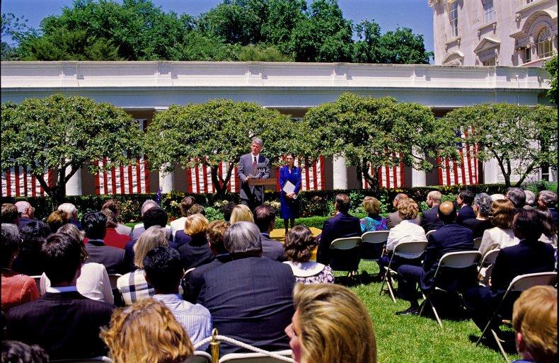The White House Rose Garden in 1993.